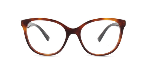 Valentino - VA3014 Havana Square Women Eyeglasses - 53mm
