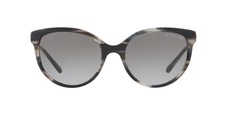 Michael Kors Abi Black Horn / Gray Lens Gradient Polarized Sunglasses
