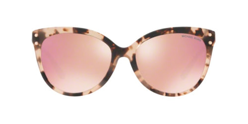 Michael Kors Jan Pink Tortoise / Rose Gold Lens Mirror Polarized Sunglasses