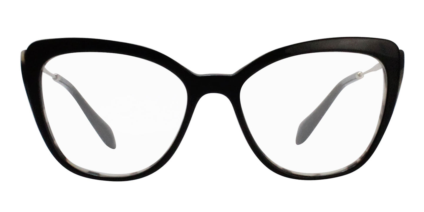 Miu Miu - MU02QV Black Cat-Eye Women Eyeglasses - 53mm