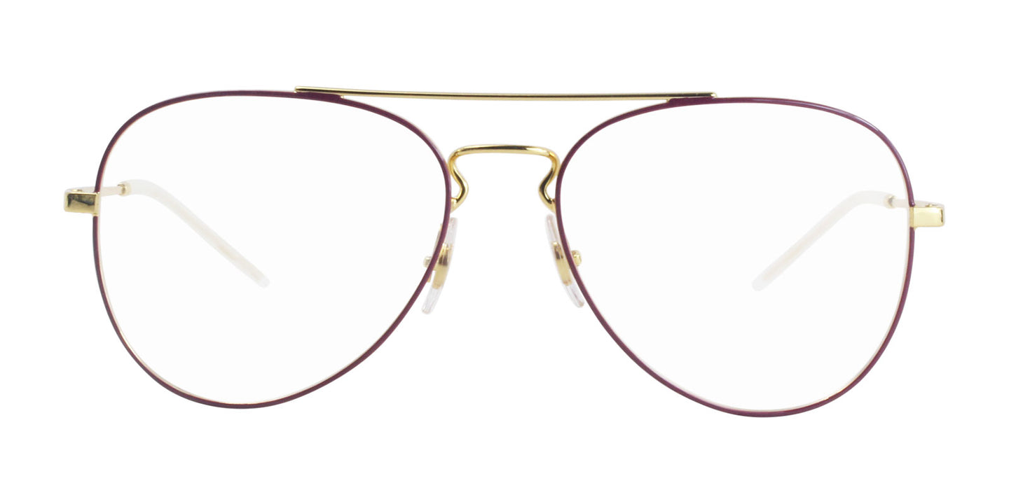Ray Ban Rx - RX6413 Purple Gold Aviator Unisex Eyeglasses - 56mm