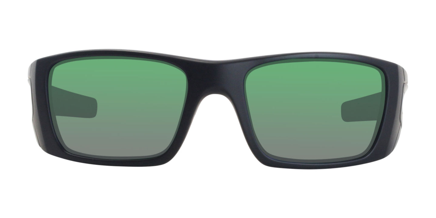 Oakley Fuel Cell Black / Green Lens Mirror Sunglasses