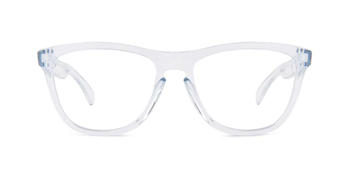 Oakley - Frogskins Transparent/Clear Square Unisex Eyeglasses - 54mm