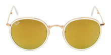 Ray Ban - RB3517 Gold/Yellow Mirror Oval Men Sunglasses - 51mm