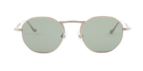Matsuda - M3057 Antique Gold Oval Unisex Sunglasses - 49mm