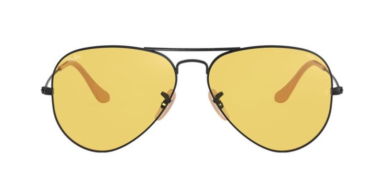 Ray Ban - Aviator Black/Yellow Women Sunglasses - 55mm
