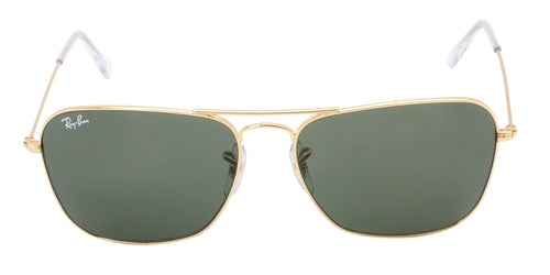 Ray Ban - RB3138 Gold Rectangular Men Sunglasses - 58mm