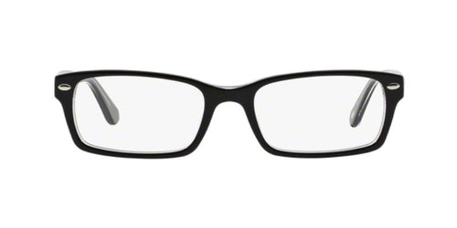 Ray Ban Rx - RX5206 Black Square Men Eyeglasses - 52mm