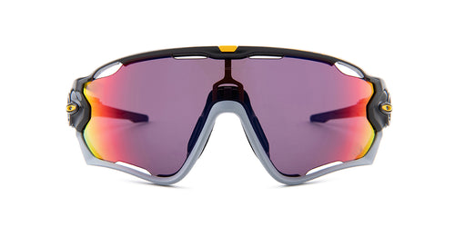 Oakley OO9290-35 Gray / Purple Lens Mirror Sunglasses