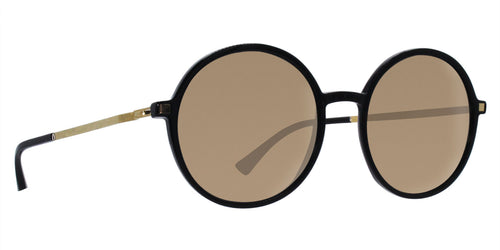 Mykita Anana Black / Gold Lens Mirror Sunglasses