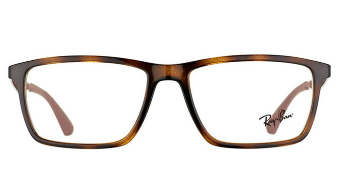 Ray Ban Rx - RX7056 Havana Square Women Eyeglasses - 53mm