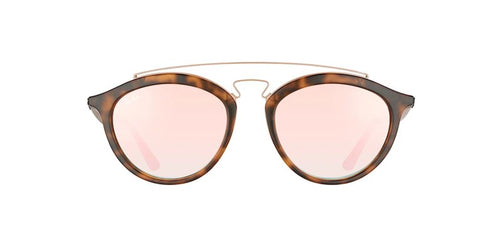 Ray Ban - Gatsby II Havana/Orange Mirror Round Unisex Sunglasses - 50mm