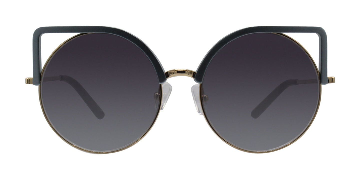 Matthew Williamson - MW169 Blue Oval Women Sunglasses - 54mm