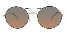 Oliver Peoples Nickol Blue Gold / Blue Lens Mirror Sunglasses