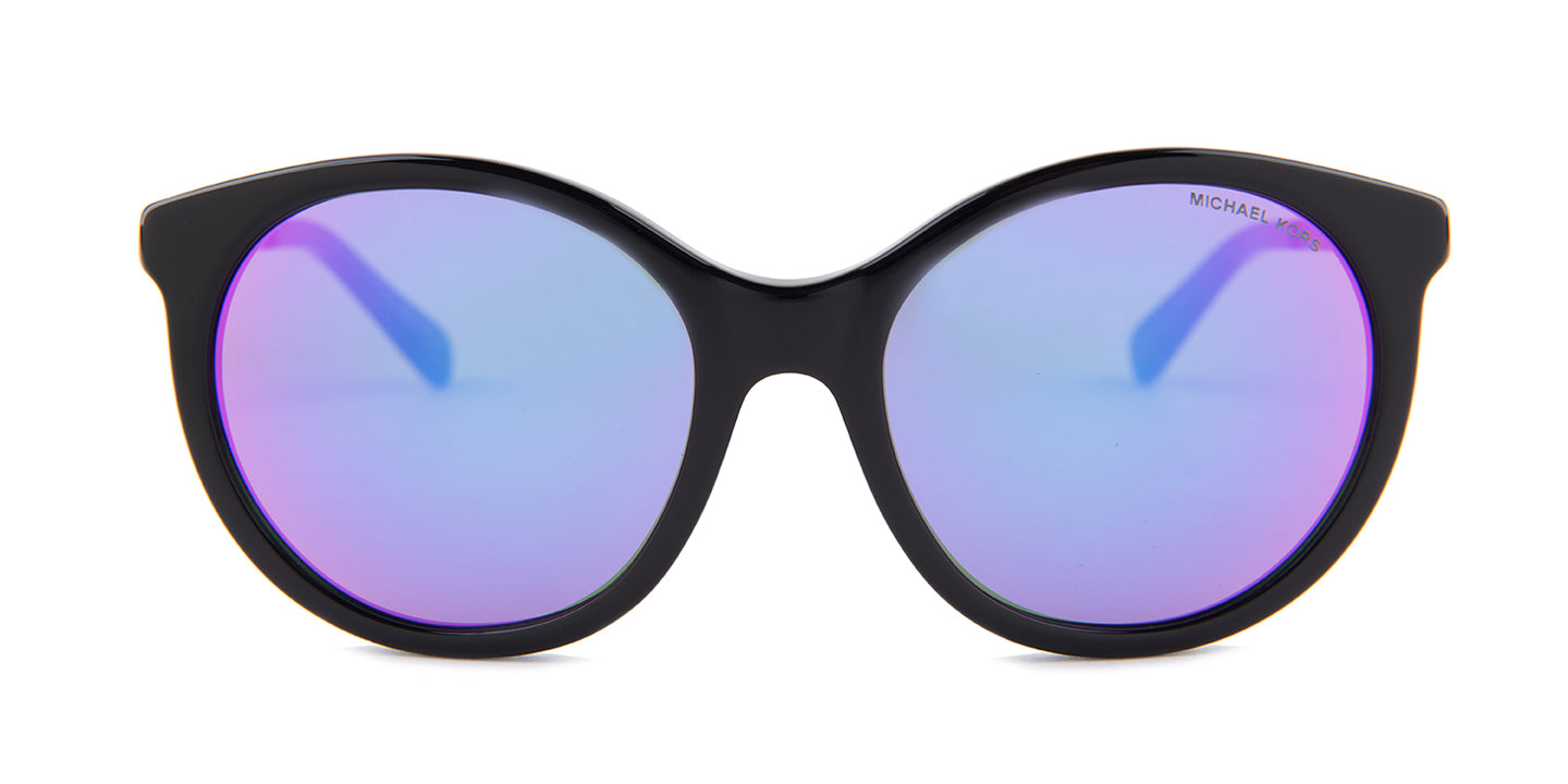 Michael Kors MK2034 Black / Purple Lens Mirror Sunglasses