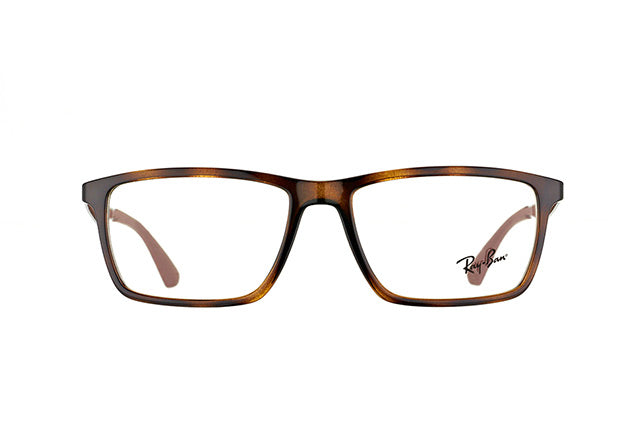 Ray Ban Rx - RB7056 Havana Square Women Eyeglasses - 55mm