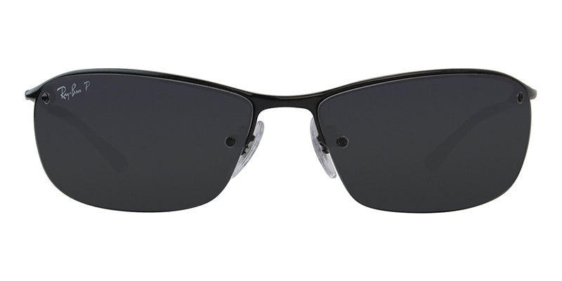 Ray Ban - RB3183 Black/Gray Polarized Semi-Rimless Men Sunglasses - 63mm