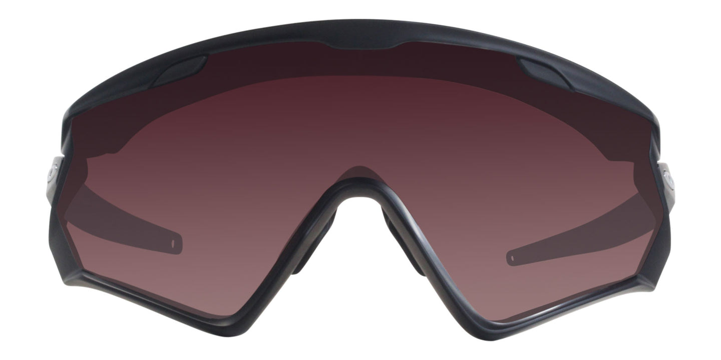 Oakley - Wind Jacket 2.0 Black/Silver Shield Unisex Sunglasses