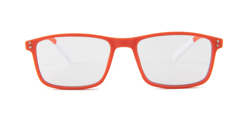 Pantone N Four Orange / Clear Lens Eyeglasses +1.50