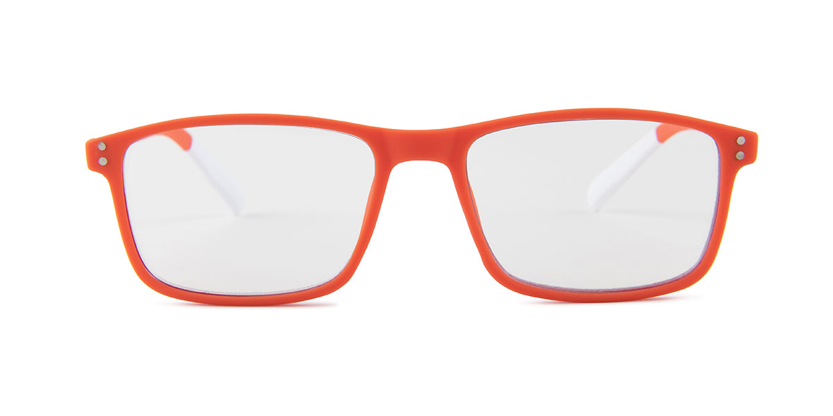 Pantone - N Four Orange Rectangular Unisex Eyeglasses - 52mm