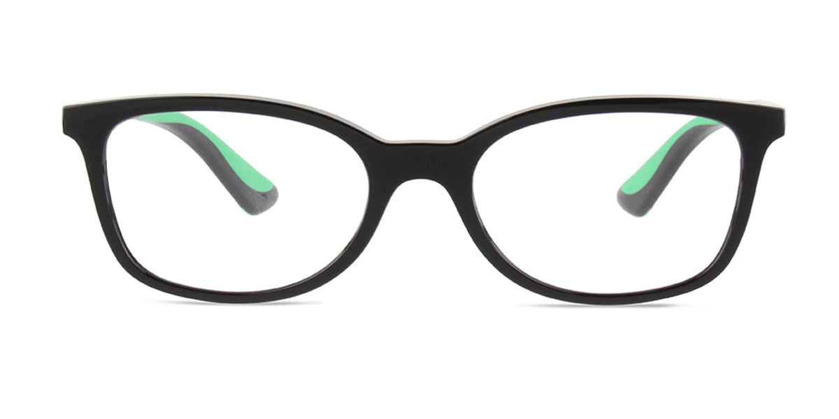 Ray Ban Jr - RY1586 Black Rectangular Kids Eyeglasses - 47mm