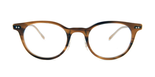 Oliver Peoples Elyo Brown / Clear Lens Eyeglasses