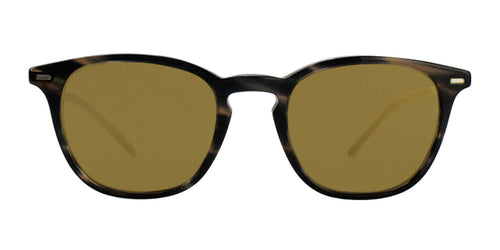 Oliver Peoples Heaton Tortoise / Gold Lens Mirror Sunglasses