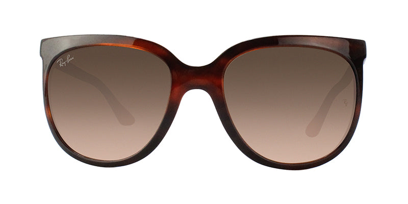 Ray Ban - CATS 1000 Tortoise/Brown Gradient Oval Women Sunglasses - 57mm