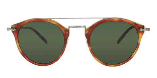 Oliver Peoples Remick Tortoise / Green Lens Sunglasses