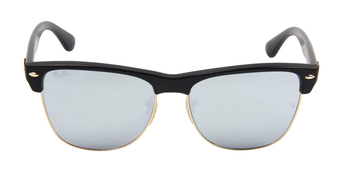 Ray Ban - RB4175 Black/Blue Mirror Oval Unisex Sunglasses