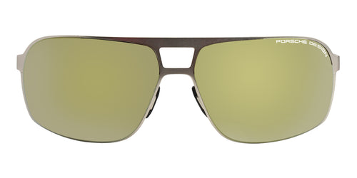 Porsche Design P8579 Gold / Gold Lens Mirror Sunglasses