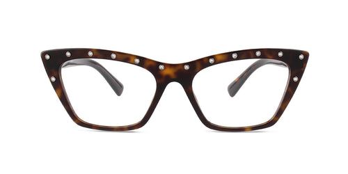 Valentino - VA3031 Havana Cat-Eye Women Eyeglasses - 54mm