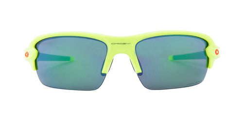 Oakley Flak XS Yellow / Jade Lens Mirror Sunglasses