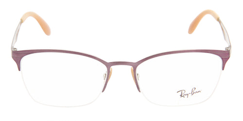Ray Ban Rx - RX6345 Pink Semi-Rimless Women Eyeglasses - 52mm