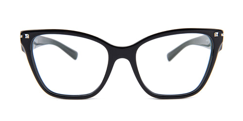 Valentino - VA3017 Black Square Women Eyeglasses - 54mm