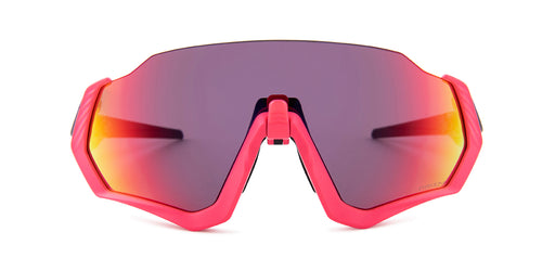 Oakley Flight Jacket Pink / Pink Lens Mirror Sunglasses