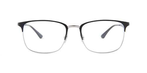 Ray Ban Rx - RX6421 Black Rectangular Unisex Eyeglasses - 54mm