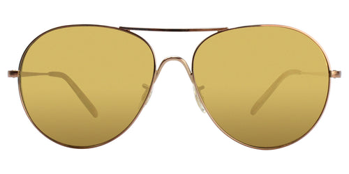 Oliver Peoples Rockmore Gold / Gold Lens Mirror Sunglasses