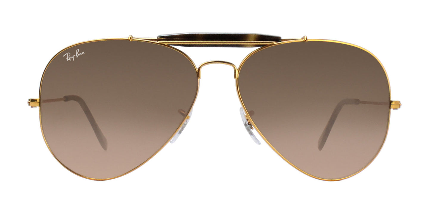 Ray Ban - Outdoorsman II Gold/Brown Gradient Aviator Unisex Sunglasses - 62mm