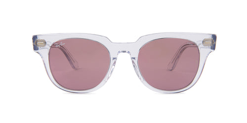 Ray Ban - Meteor Clear/Violet Photochromic Square Unisex Sunglasses - 50mm