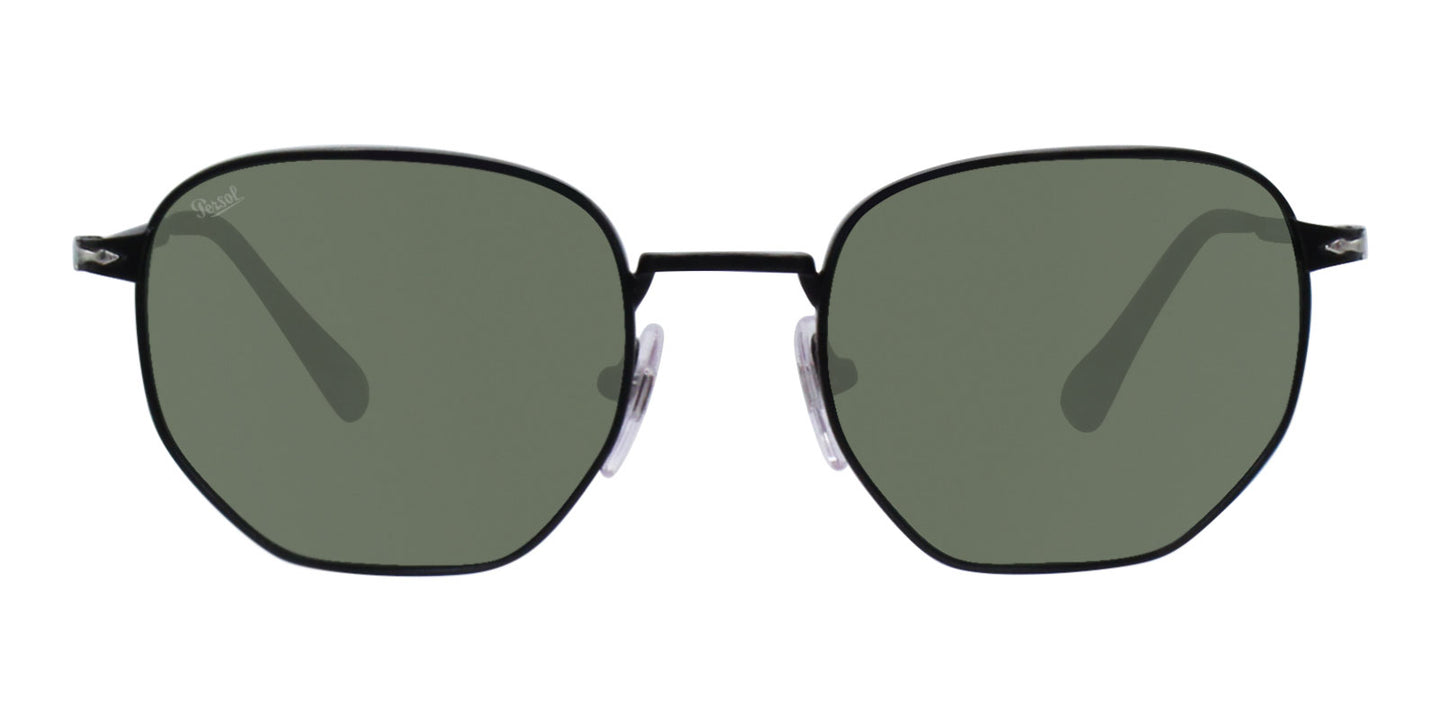 Persol PO2446S Black / Green Lens Sunglasses
