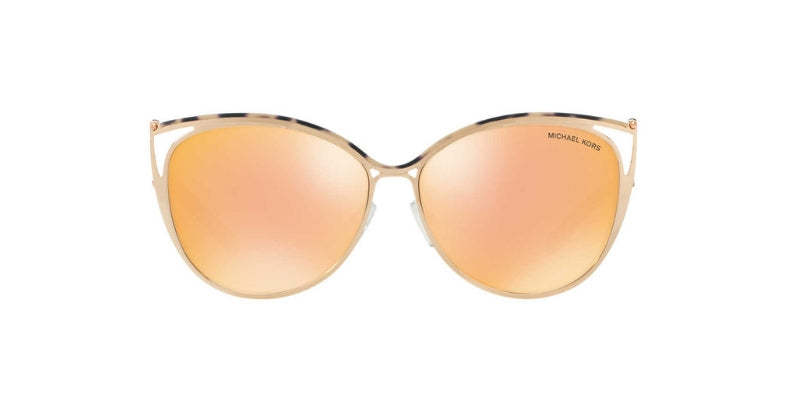 Michael Kors Ina Rose Gold / Gold Lens Mirror Sunglasses