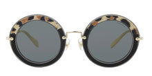Miu Miu MU08RS Black / Blue Lens Sunglasses