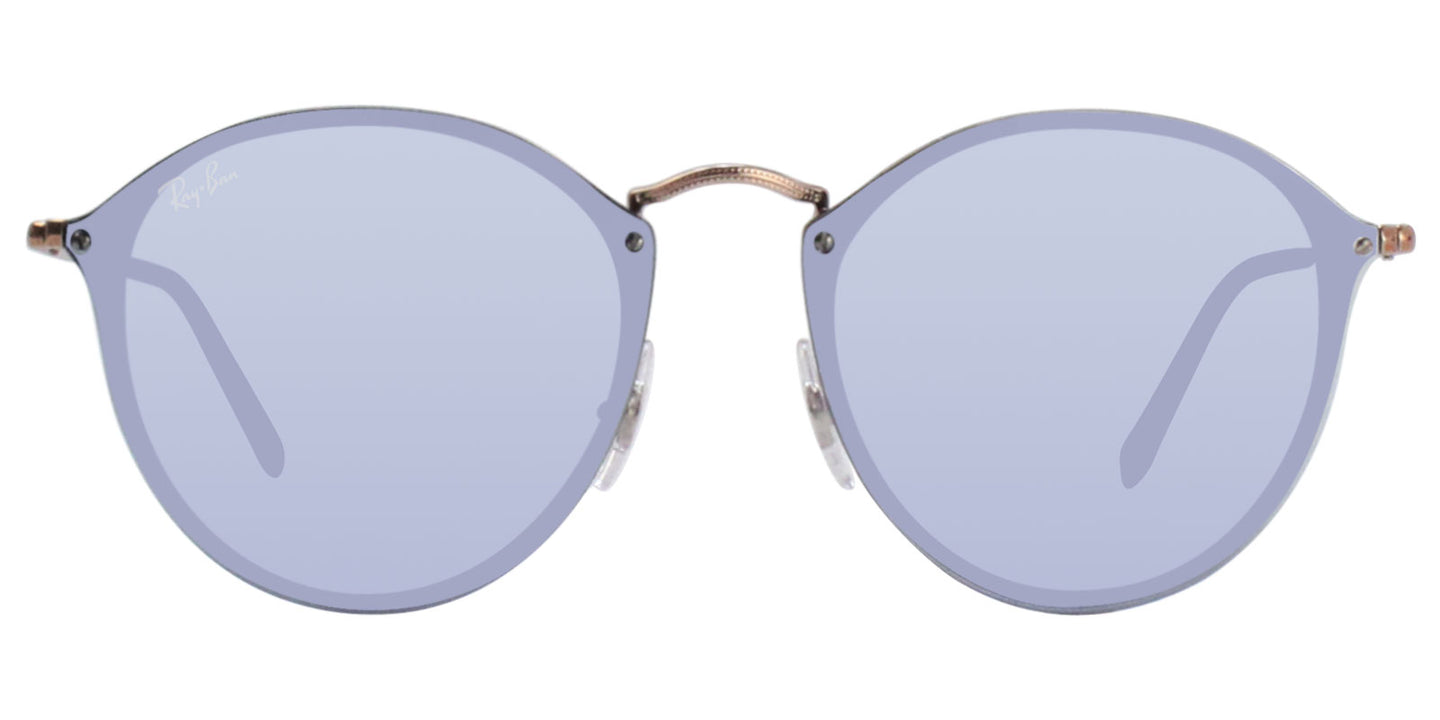 Ray Ban - RB3574N Rose Gold/Silver Mirror Oval Women Sunglasses - 59mm