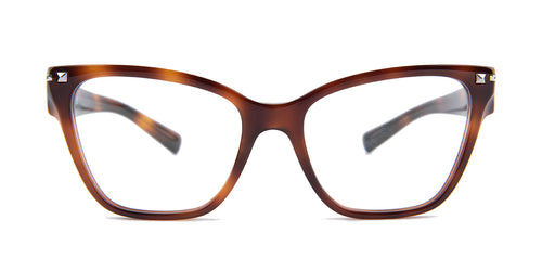 Valentino - VA3017 Havana Butterfly Women Eyeglasses - 52mm