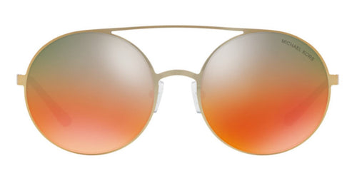Michael Kors MK1027 Gold / Orange Lens Mirror Sunglasses