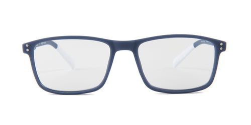 Pantone - N Four Light Blue Rectangular Unisex Eyeglasses - 52mm