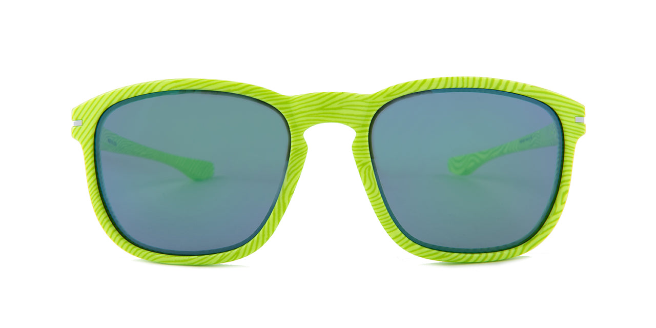 Oakley - Enduro Green/Green Rectangular Unisex Sunglasses - 55mm