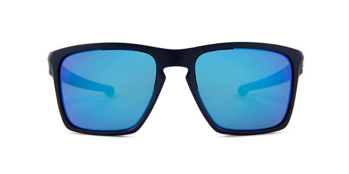Oakley Silver XL Blue / Blue Lens Mirror Sunglasses