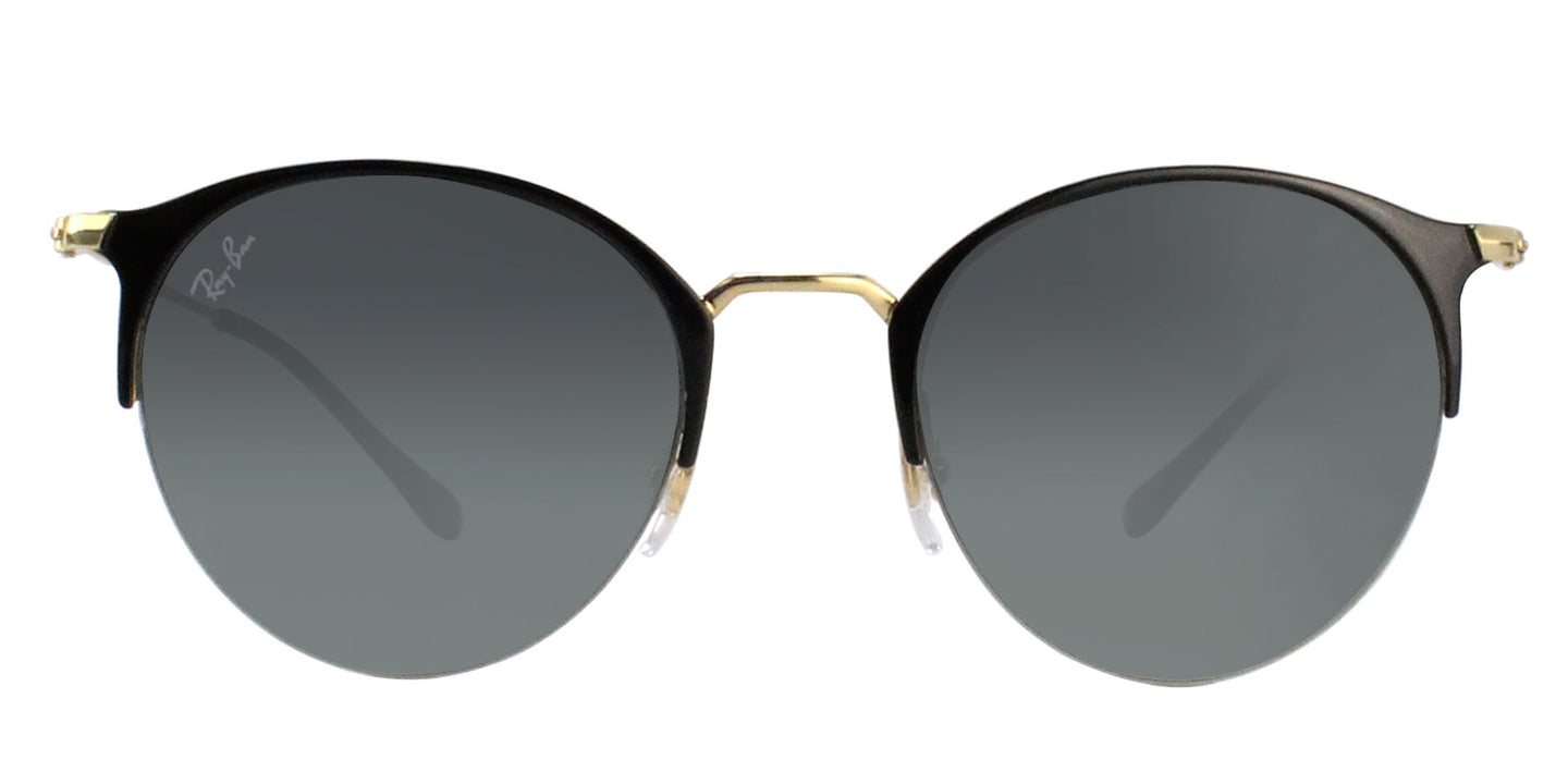 Ray Ban - RB3578 Black Gold Semi-Rimless Women Sunglasses - 50mm